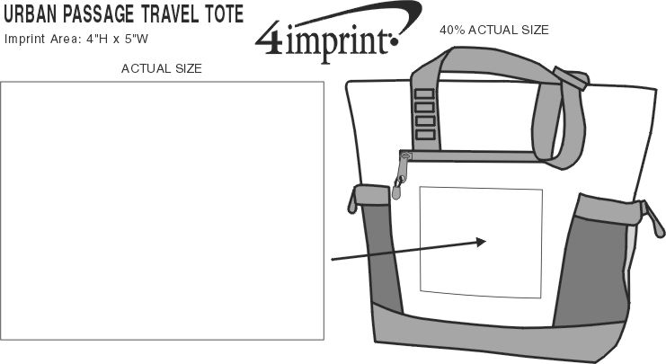 Imprint Area of Urban Passage Travel Tote