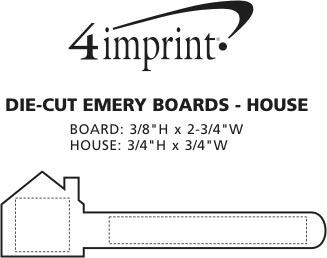 Imprint Area of Die-Cut Emery Board - House