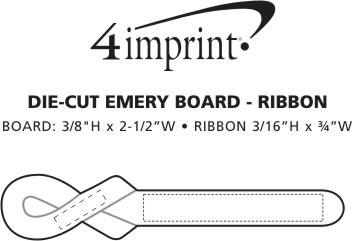 Imprint Area of Die-Cut Emery Board - Ribbon