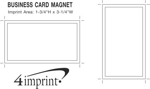 Imprint Area of Business Card Magnet - 20 mil