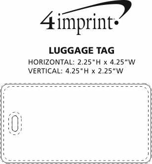 Imprint Area of Luggage Tag