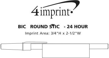 Imprint Area of Bic Round Stic Pen - 24 hr