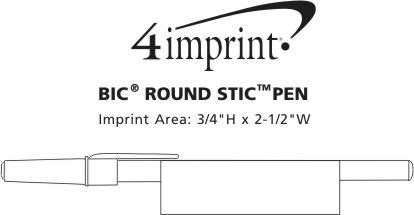 Imprint Area of Bic Round Stic Pen
