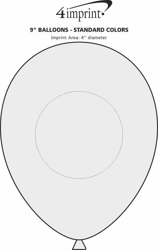 "Imprint Area of Balloon - 9"" Standard Colors"
