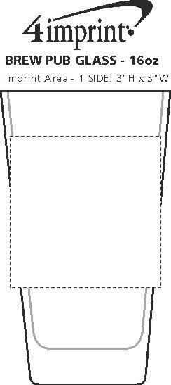 Imprint Area of Brew Pub Glass - 16 oz.