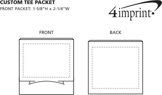 Imprint Area of Custom Tee Packet