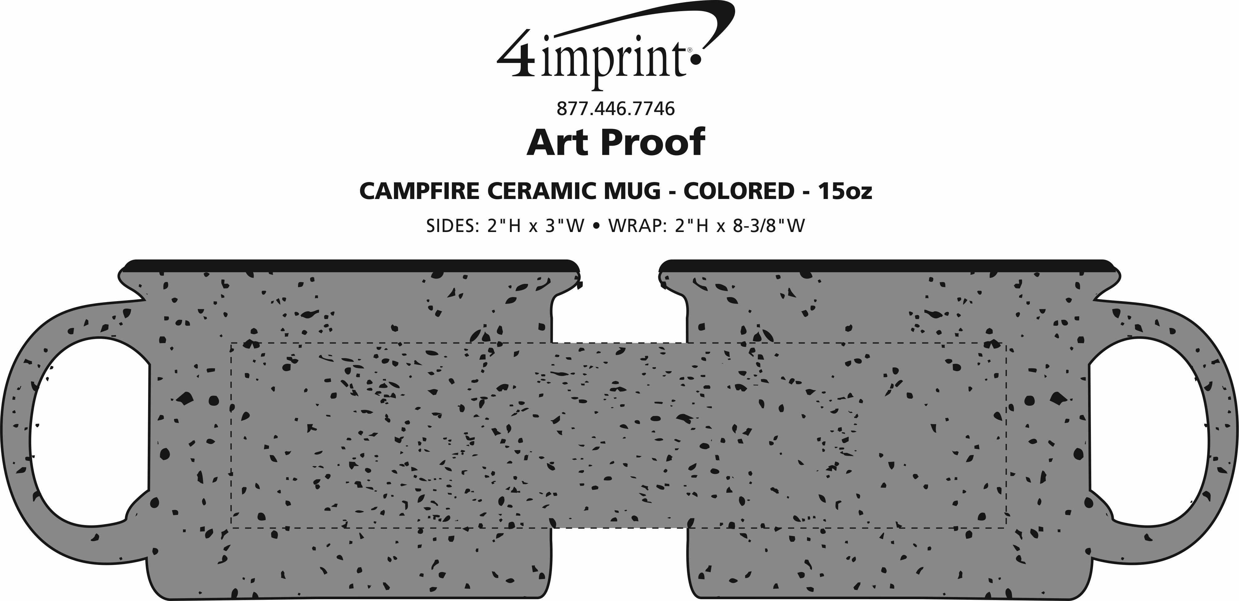 Imprint Area of Campfire Ceramic Mug - Colors - 15 oz.