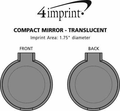 Imprint Area of Compact Mirror - Translucent