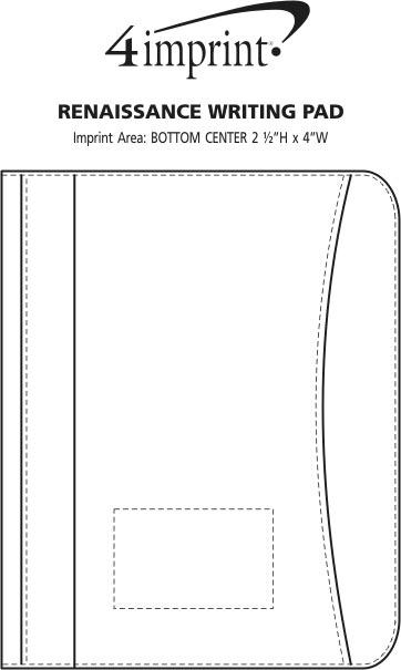 Imprint Area of Renaissance Leather Writing Pad