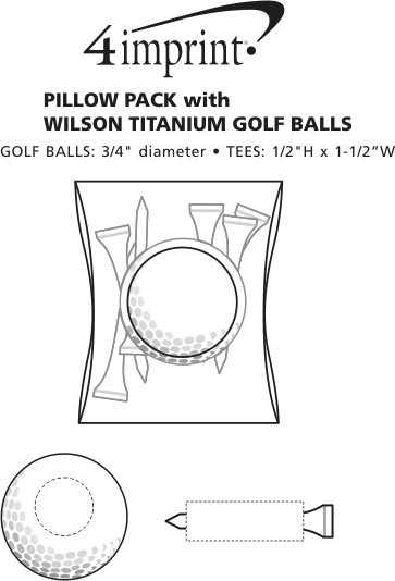 Imprint Area of Pillow Pack with Wilson Ultra Golf Ball