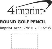 Imprint Area of Round Golf Pencil