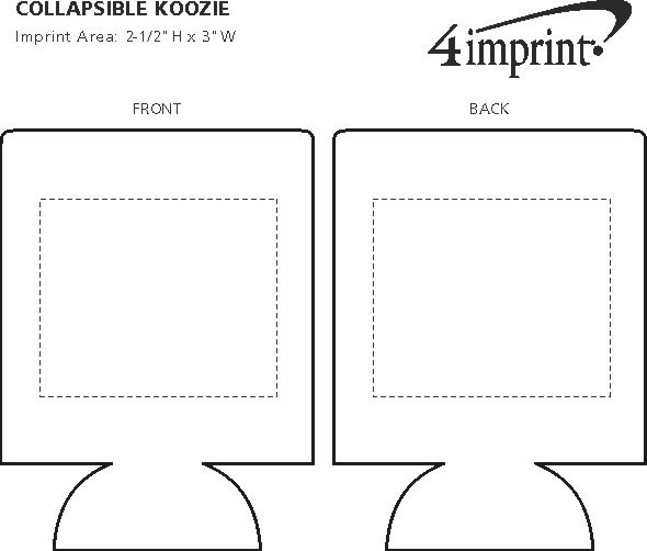 Imprint Area of Collapsible Koozie®
