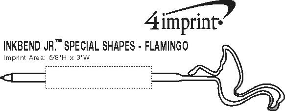 Imprint Area of Inkbend Standard Special Shapes - Flamingo