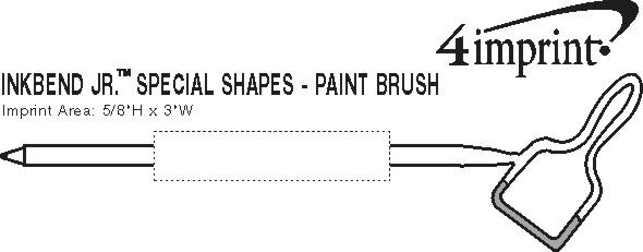 Imprint Area of Inkbend Standard Special Shapes - Paint Brush