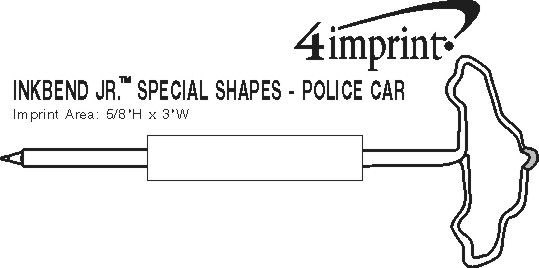 Imprint Area of Inkbend Standard Special Shapes - Police Car