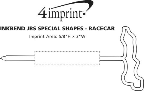 Imprint Area of Inkbend Standard Special Shapes - Race Car