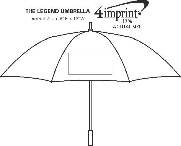"Imprint Area of The Legend Umbrella - 64"" Arc"