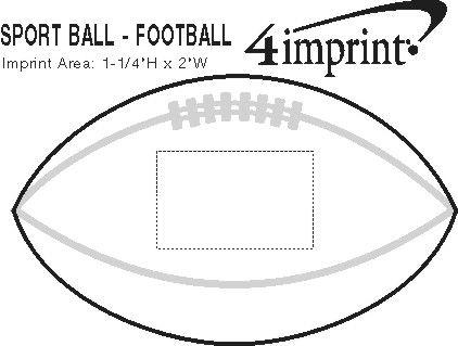"""Imprint Area of Mini Plastic Football - 6"""""""