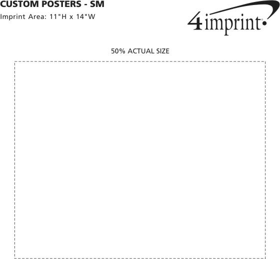 Imprint Area of Custom Posters - Small