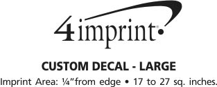 Imprint Area of Custom Static Decal - Large
