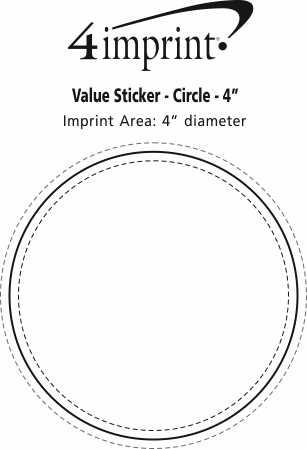 "Imprint Area of Circle Sticker - 4"""