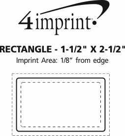 "Imprint Area of Rectangle Sticker - 1-1/2"" x 2-1/2"""