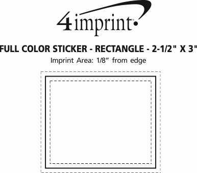 """Imprint Area of Full Color Sticker - Rectangle - 2-1/2"""" x 3"""""""