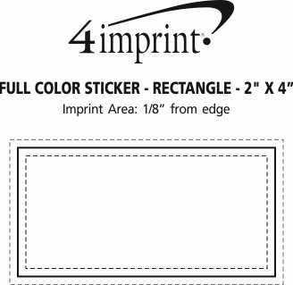 "Imprint Area of Full Color Sticker - Rectangle - 2"" x 4"""
