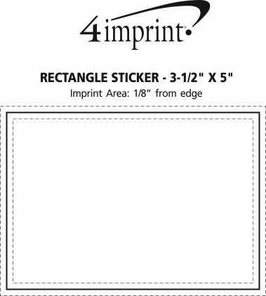 "Imprint Area of Rectangle Sticker - 3-1/2"" x 5"""