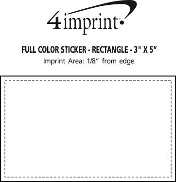 "Imprint Area of Full Color Sticker - Rectangle - 3"" x 5"""