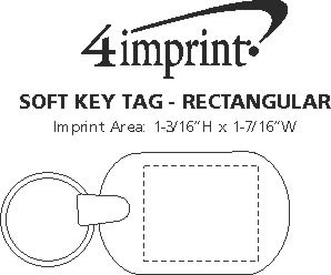 Imprint Area of Soft Keychain - Rectangular