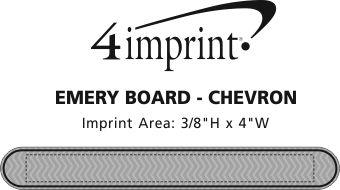 Imprint Area of Emery Board - Chevron