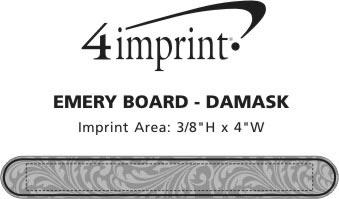 Imprint Area of Emery Board - Damask