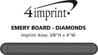 Imprint Area of Emery Board - Diamonds