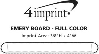 Imprint Area of Emery Board - Full Color
