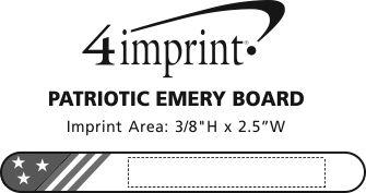 Imprint Area of Patriotic Emery Board