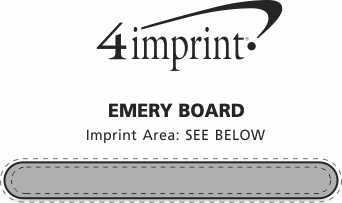 Imprint Area of Emery Board