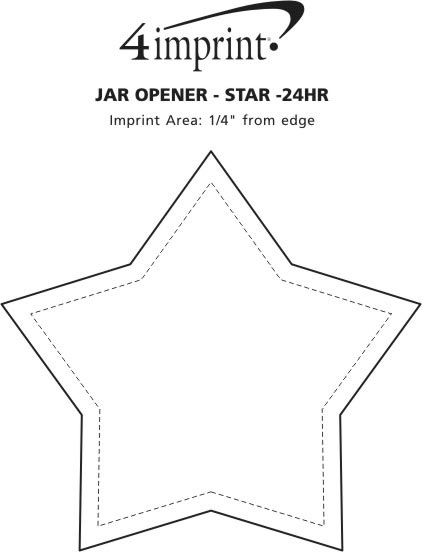 Imprint Area of Jar Opener - Star - 24 hr