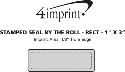 """Imprint Area of Stamped Seal by the Roll - Rectangle - 1"""" x 3"""""""