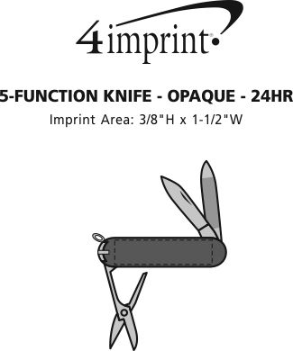 Imprint Area of 5-Function Knife - Opaque - 24 hr