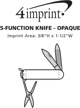 Imprint Area of 5-Function Knife - Opaque