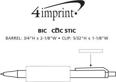 Imprint Area of Bic Clic Stic Pen - 24 hr