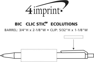 Imprint Area of Bic Clic Stic Ecolutions Ballpoint Pen