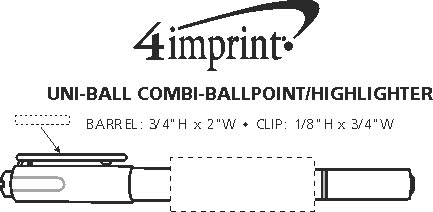 Imprint Area of uni-ball Combi-Ballpoint/Highlighter
