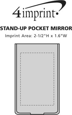 Imprint Area of Stand-Up Pocket Mirror
