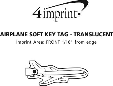 Imprint Area of Airplane Soft Keychain - Translucent