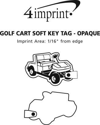 Imprint Area of Golf Cart Soft Keychain - Opaque