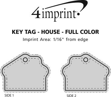 Imprint Area of House Soft Keychain - Full Color
