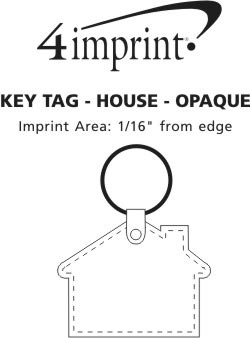Imprint Area of House Soft Keychain - Opaque
