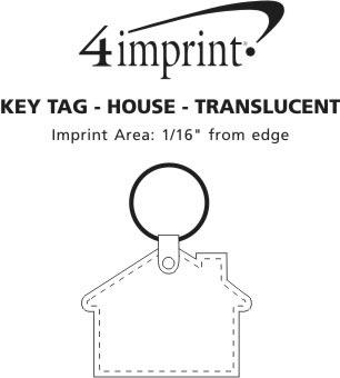 Imprint Area of House Soft Keychain - Translucent